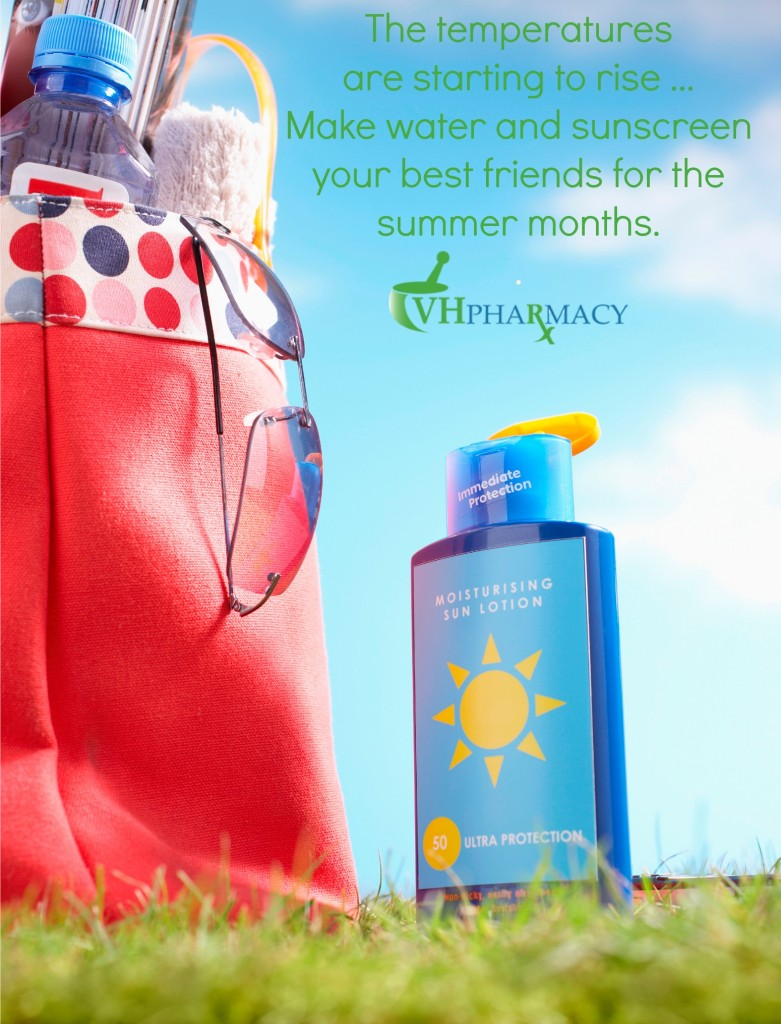 Make water and sunscreen your best friends for the next few months.